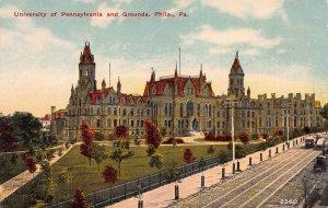 University of Pennsylvania and Grounds, Philadelphia, PA, Early Postcard, Unused