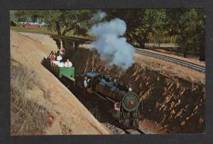 CA CALISTOGA Railroad Train NAPA VALLEY CALIFORNIA PC