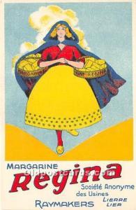 Advertising Postcard - Old Vintage Antique  Margarine Regina