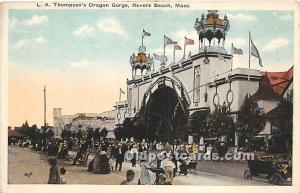 Revere Beach, Massachusetts, MA, USA Postcard LA Thompson's Dragon Gorge...