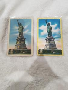 Antique/Vintage Postcard, Statue of Liberty in New York Harbor  WWII & 1950