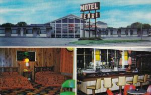 3 View, Motel Henri, Motel Room, Bar, Noranda, Quebec, Canada, 40s-60s