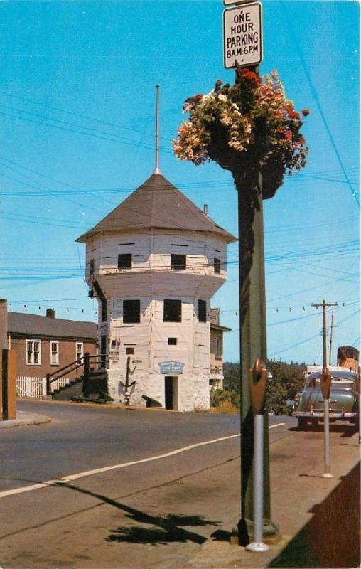 Nanaimo BC~Hudson Bay Co Fort Blockhouse~The Bastion~1950s Car~1 Hour Parking