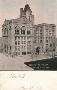 Postcard Board of Trade Kansas City Missouri