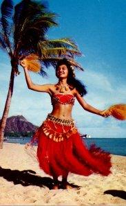Hawaii Honolulu Tahitian Dancer At Waikiki