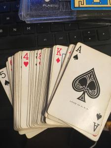 Vintage Playing Cards: Hoyle Kent Double Deck, Bridge- Southwestern Red and Blue