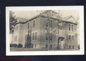 RPPC NORTON KANSAS COUNTY HIGH SCHOOL BUILDING RPO CANCEL REAL PHOTO POSTCARD