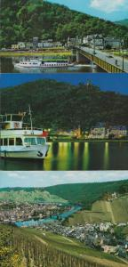 Germany Traben Trarbach Boat Ship Ferry Aerial 3x Postcard s