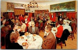 St. Louis, Missouri Postcard SCHOBER'S WINE RESTAURANT Austrian Room c1960s