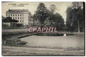Old Postcard The Cliff & # 39Hopital Civll and Walks