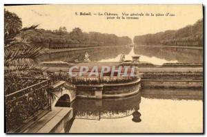 Old Postcard Beloeil Chateau Water Piece Generale View from the terrace
