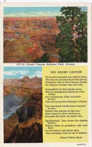 Arizona Grand Canyon Poem By Henry Felton Huse Curteich