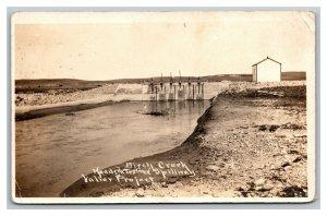 1913 RPPC Birch Creek Headquarters And Spillway Valier Project Montana PC1837