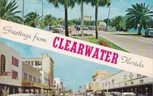 Florida Clearwater Greetings From Clearwater Florida 1953