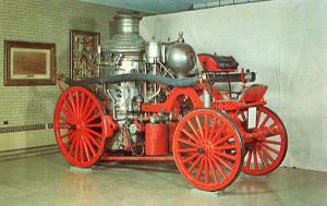 NY - Hudson. Firemen's Home of the State of NY. La France Steam Pumper