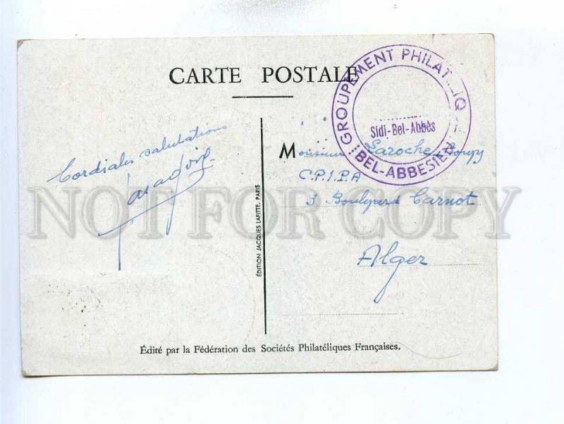 195971 ALGERIA LOUVOIS Secretary Vintage Maximum card postcard