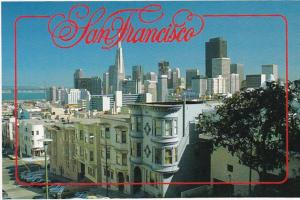 California San Francisco Downtown Showing Transamerica Building