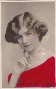 Miss Gabrielle Ray Red Tinted Johnston & Hoffman Real Photo Berlin