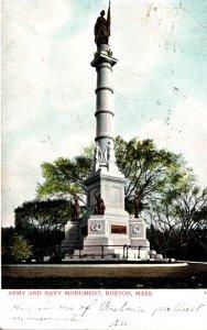 Massachusetts Boston Army and Navy Monument 1906