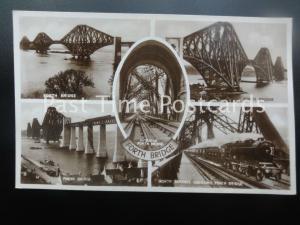 FORTH BRIDGE Multiview shows Bridge Interior & North Express ABERDEEN c1924 RP