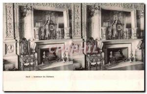Stereoscopic Card - Pau - Interior of the Castle - Old Postcard