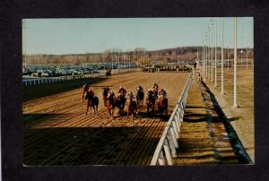 RI Lincoln Downs Racetrack Racing Race Track Horses Rhode Island Postcard Horse