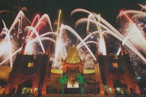 Walt Disney World MGM USA Firework Display Postcard