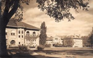 Oberlin College~OH The Men's Dormitory Where I Live~Warner Gymnsasium RPPC 1944