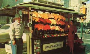 CA - San Francisco, Corner of Stockton & Geary Streets, Flower Vendor