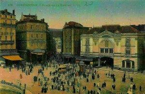 Algeria Constantine Place de la Breche Square Brasserie Etoile Postcard