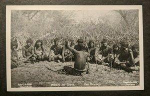 Ungebraucht Vintage Chaco Indianer Reunion Semi Nackte Argentinien Echtfotokarte