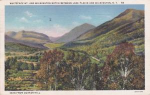 Whiteface Mountain and Wilmington Notch - Adirondacks New York - pm 1937 - Linen