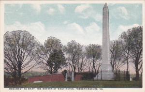 Virginia Fredericksburg Monument To Mary The Mother Of Washington