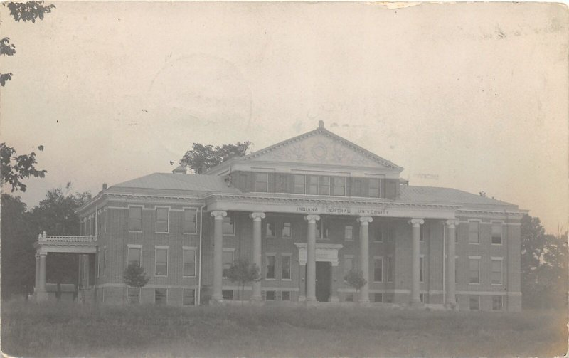 G31/ Indianapolis Indiana RPPC Postcard 1909 Hamilton Hall Building