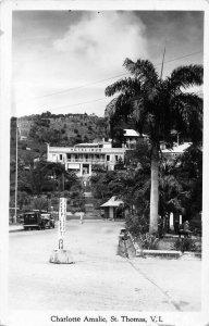 St. Thomas Virgin Islands Charlotte Amalie Hotel 1829 Real Photo PC JJ649629