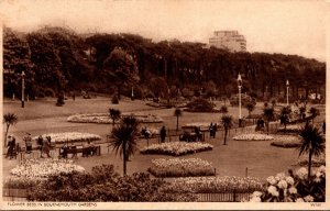 England Flower Beds In Bournemouth Gardens