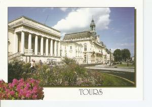 Postal 043285 : Tours (Indre et Loire). Le Palais de Justice et lhotel-de-vil...