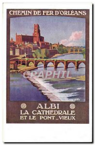 Postcard Old Train Railway d & # 39Orleans Albi and the Old Bridge