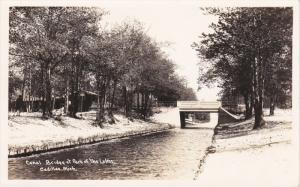 RP: Canal Bridge , Park of the Lakes , CADILLAC , Michigan , 30-40s