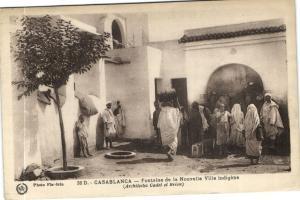 Maroc CPA Casablanca Fontaine de la Nouvelle Ville indigéne Flandrin (37629)