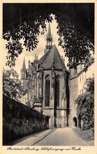 BG37515 skatstadt altenburg schlosseingang mit kirche   germany