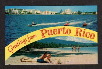 Pr greetings from puerto rico postcard jet skis beach hippostcard pr greetings from puerto rico postcard jet skis beach m4hsunfo