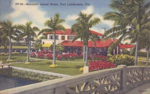 Beautiful Island Home, Fort Lauderdale, Florida, 30-40s