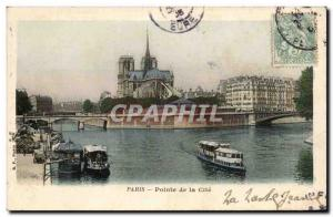 Paris Old Postcard Pointe de la Cite