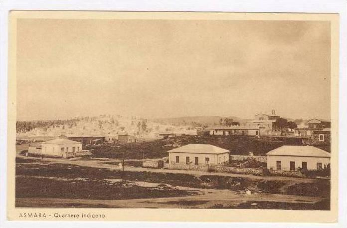 ASMARA, Eritrea, 1910-30s   Quartiere indigeno