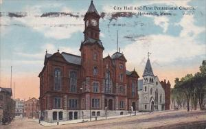 City Hall And First Pentecostal Church Haverhill Massachusetts 1917