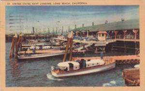 California Long Beach United States Navy Boat Landing 1956