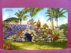 Postcard FL Miami Musa Isle Wishing Well Home of the Seminole Indians