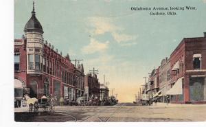 GUTHRIE, Oklahoma, PU-1914; Oklahoma Avenue, looking West