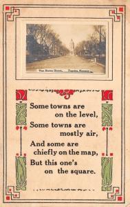 Topeka KS Homes on SW Van Buren St~All Gone Now~Capitol~Poem~RPPC 1909 Postcard